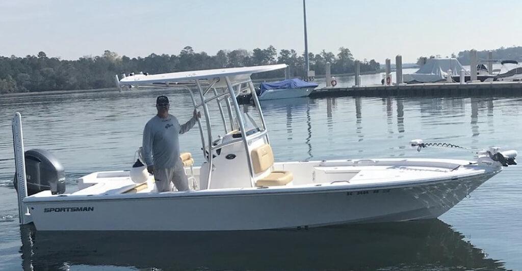 charlies new fishing boat